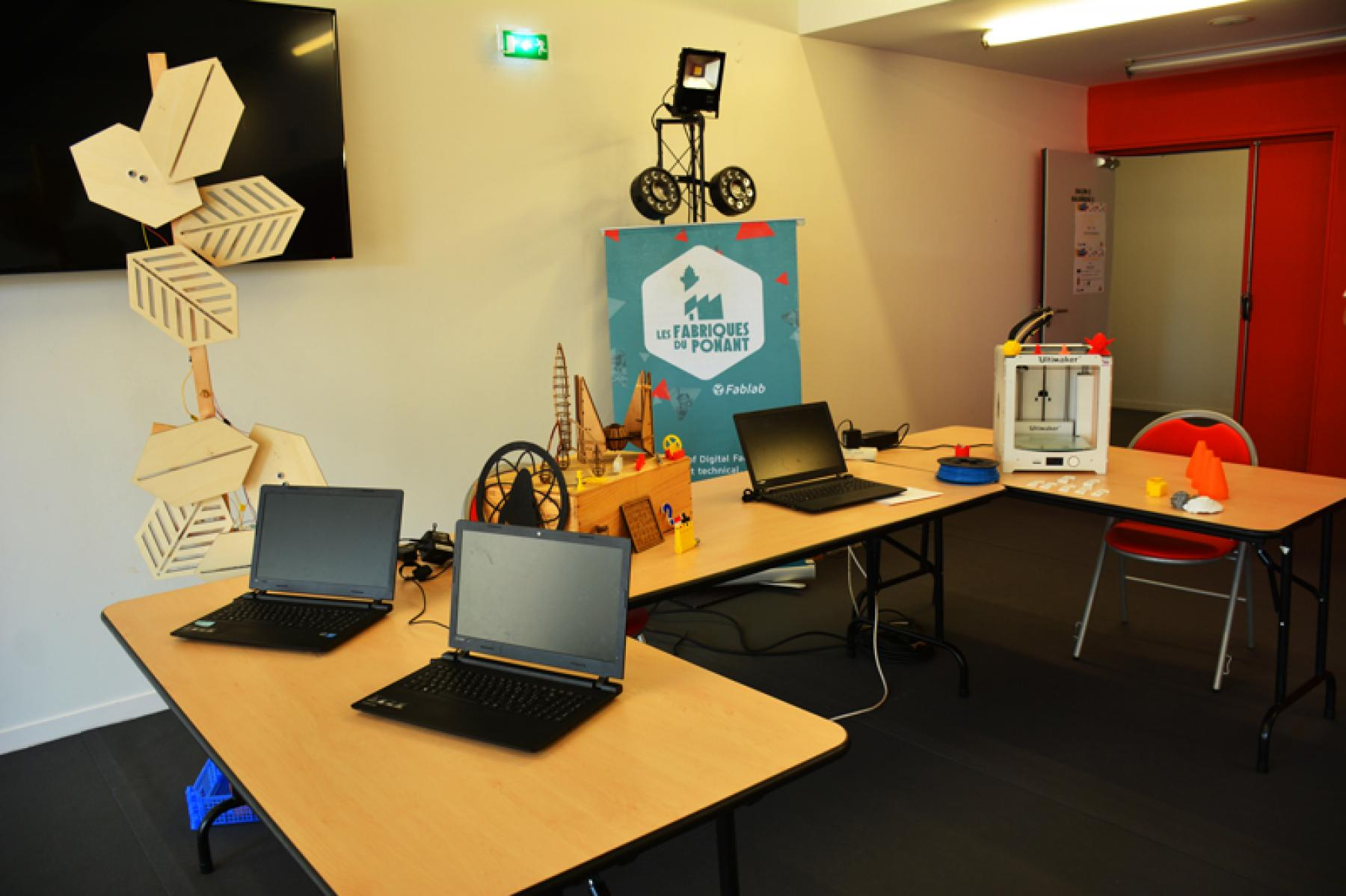 One of the stands set up at the employment event