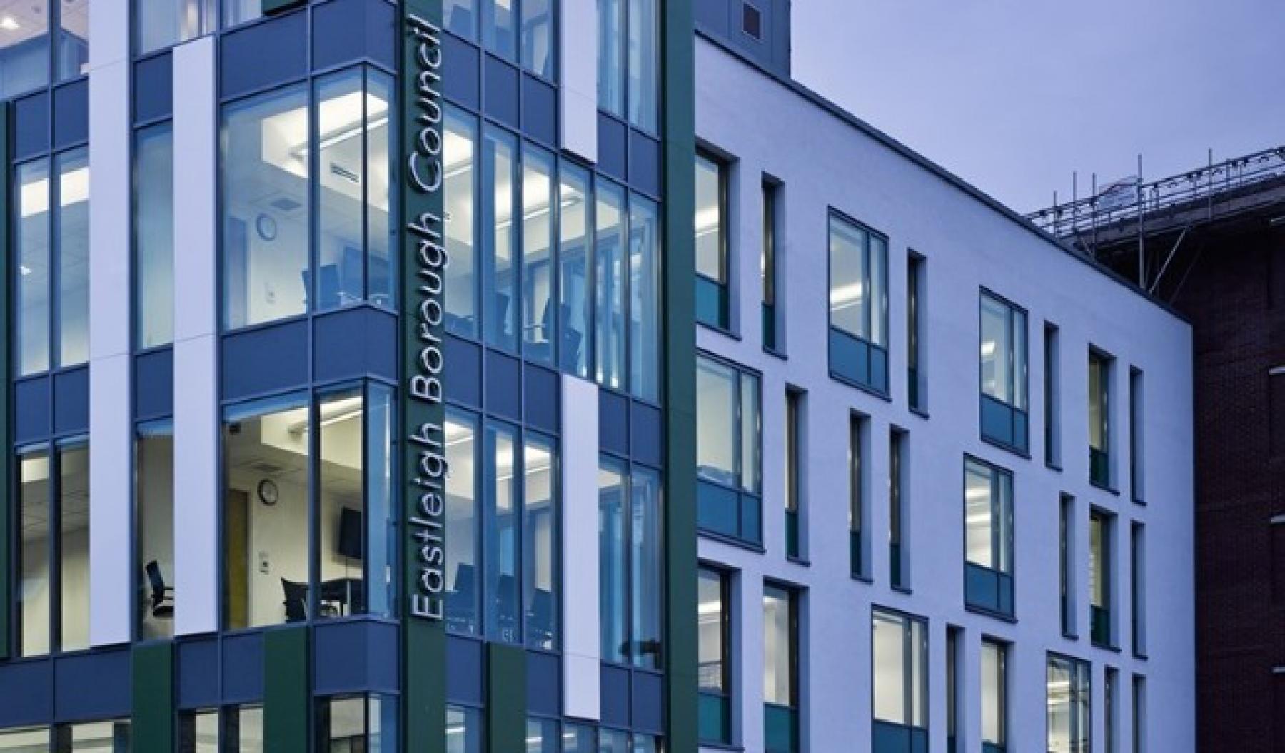 The Eastleigh Borough Council offices.