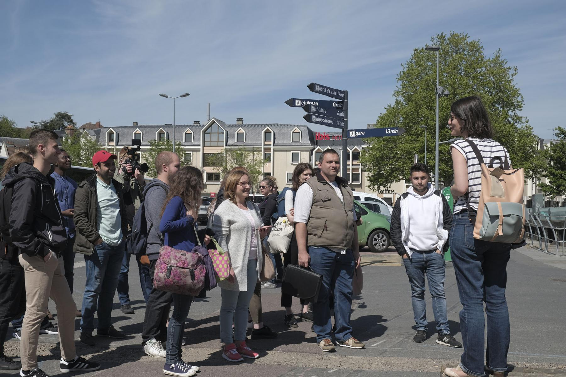 Partners and Beneficiaries were taken on a tour of Caen using the PONToon Map App