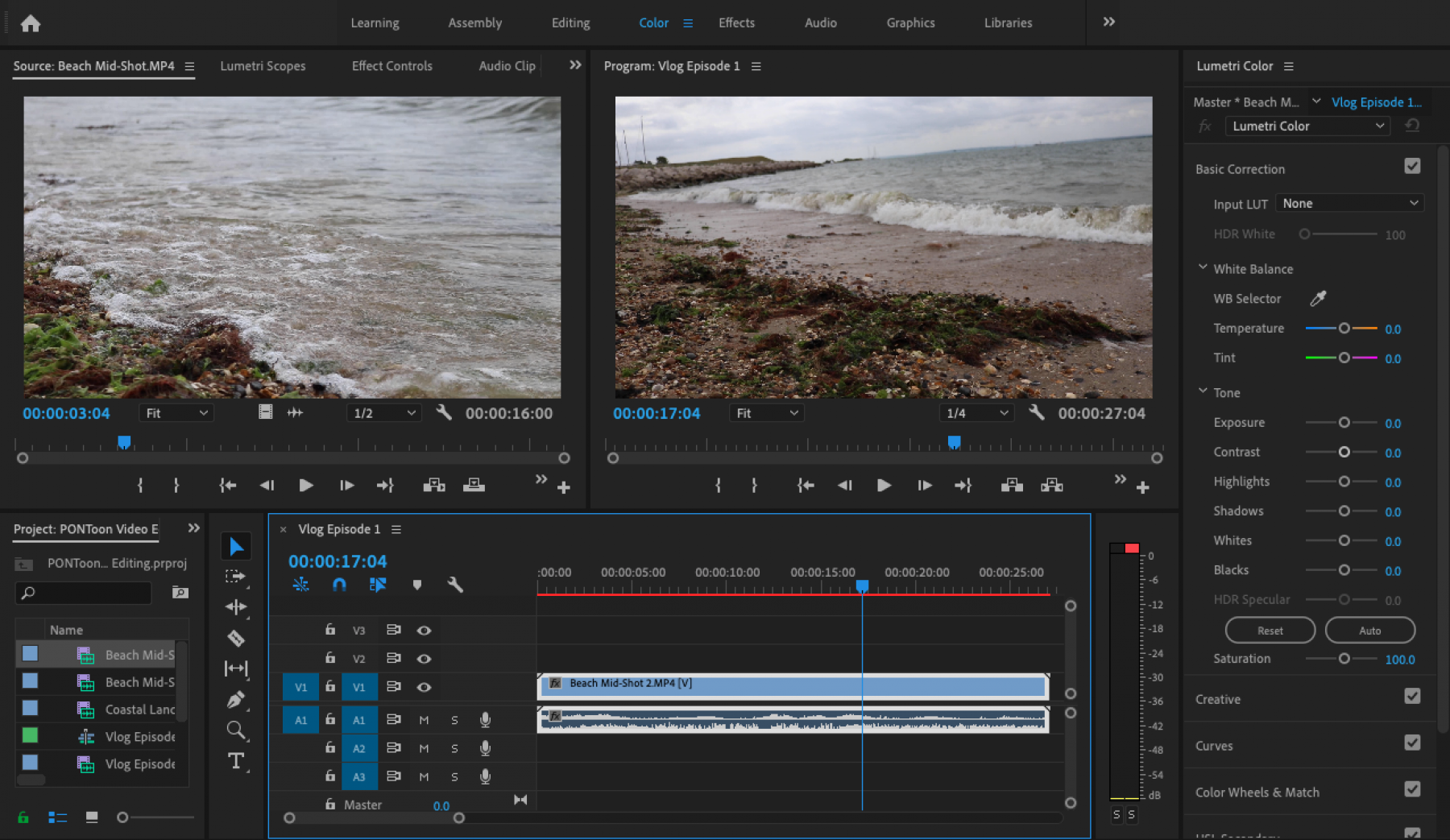 PONToon video editing tutorial - colour corrections