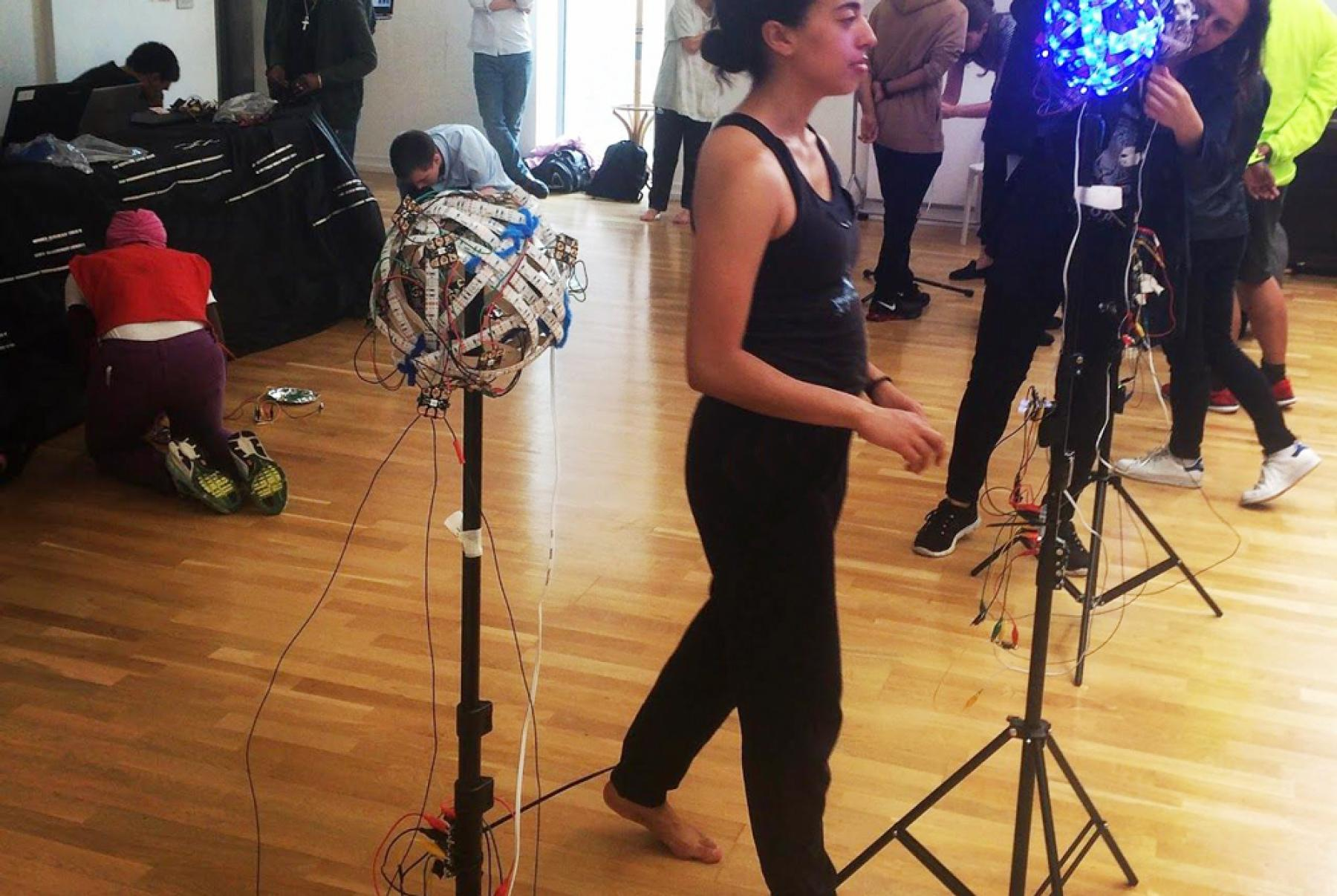Dance and Coding workshop run by Pell Ensemble and U Can Too