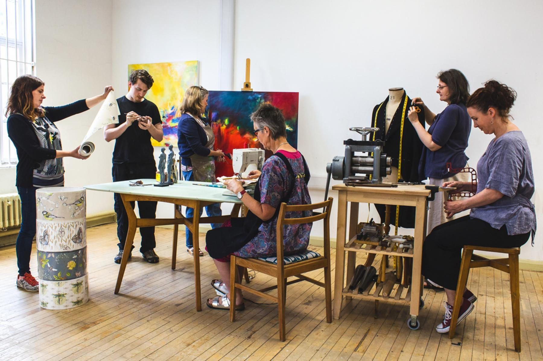 Le Sorting Office Studios, géré par le conseil municipal d'Eastleigh, abrite 16 designers de talent.