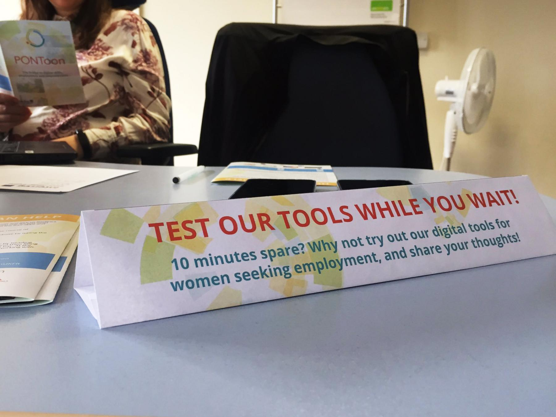PONToon Partners Eastleigh Borough Council tested tools at the Job Centre