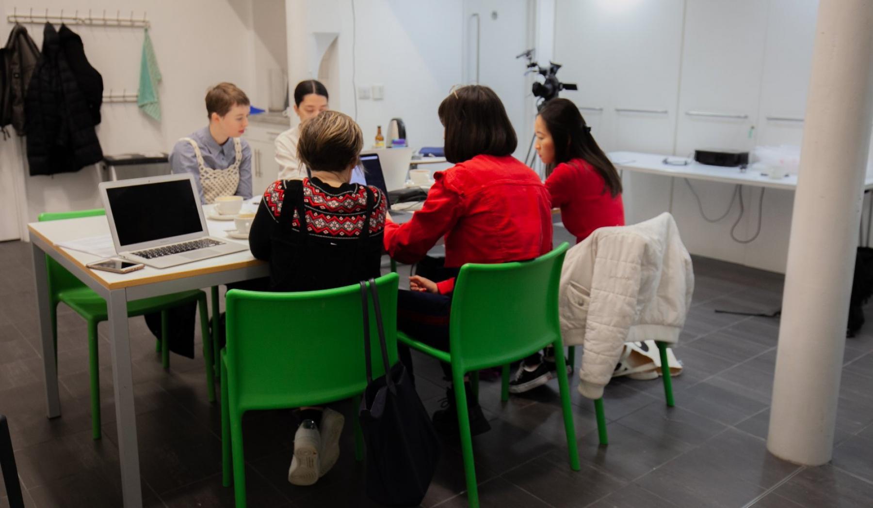 participants discuss ideas at Aspex's Collective Futures Workshop