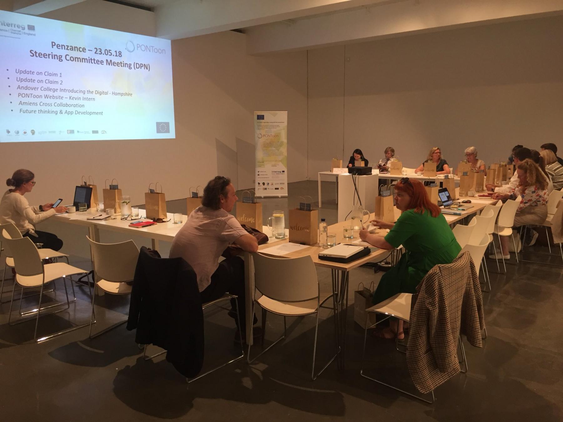 The PONToon Steering Committee meeting, organised by Digital Peninsula Network