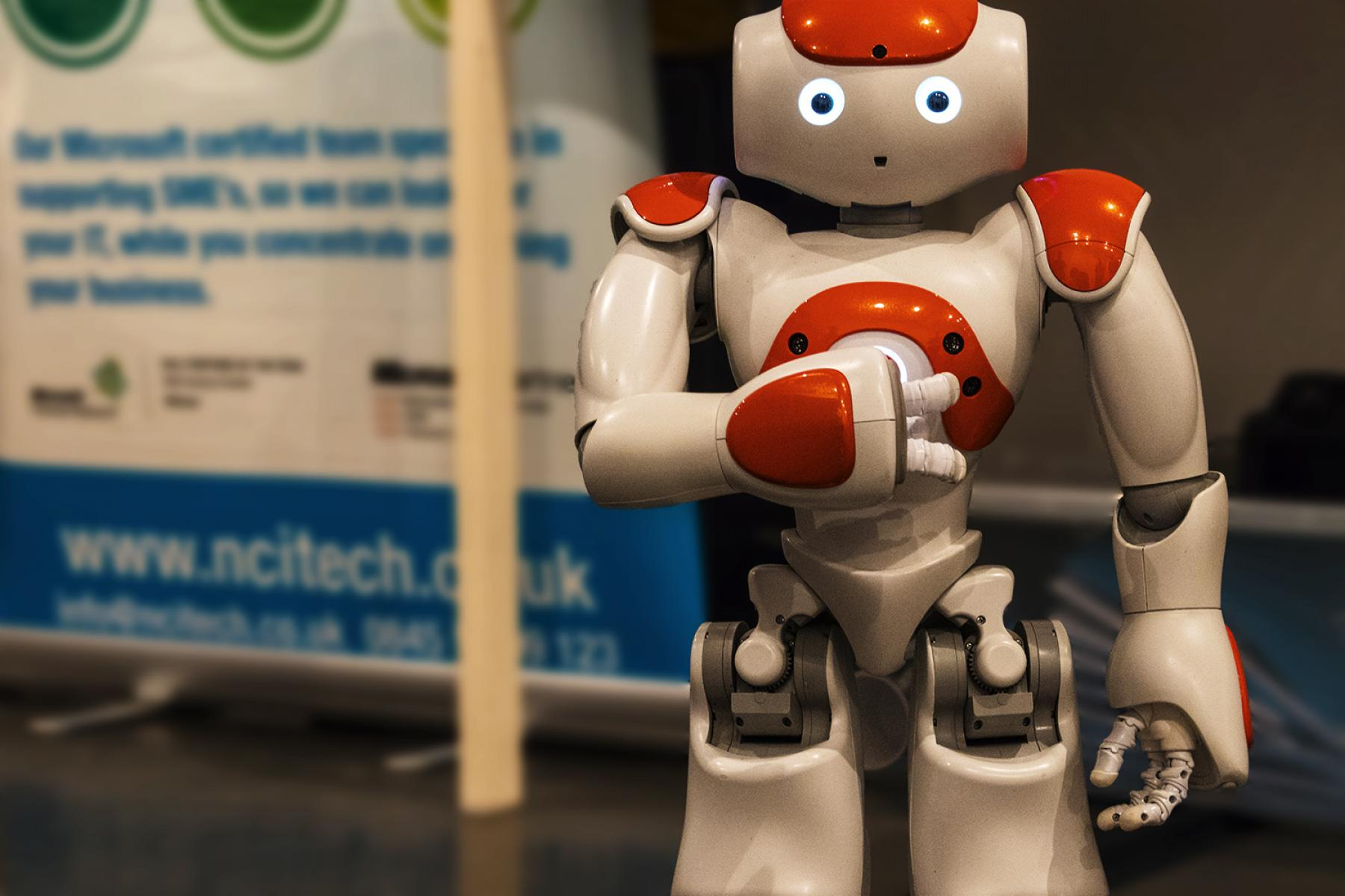 Toby the educational robot, courtesy of NCI Technologies
