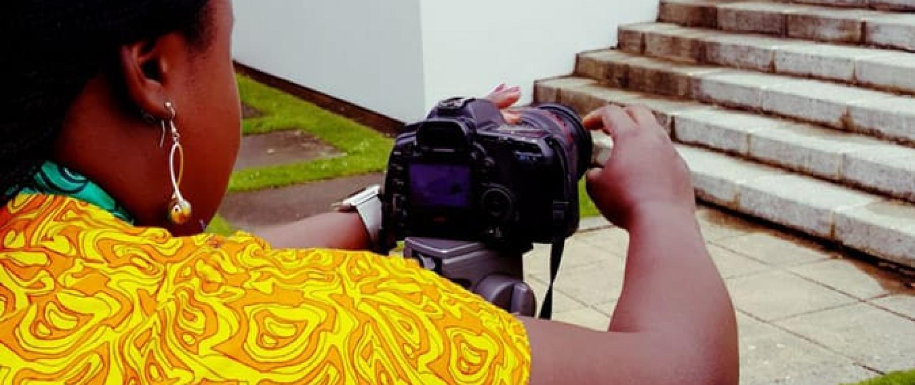 PONToon beneficiary practices her camera skills