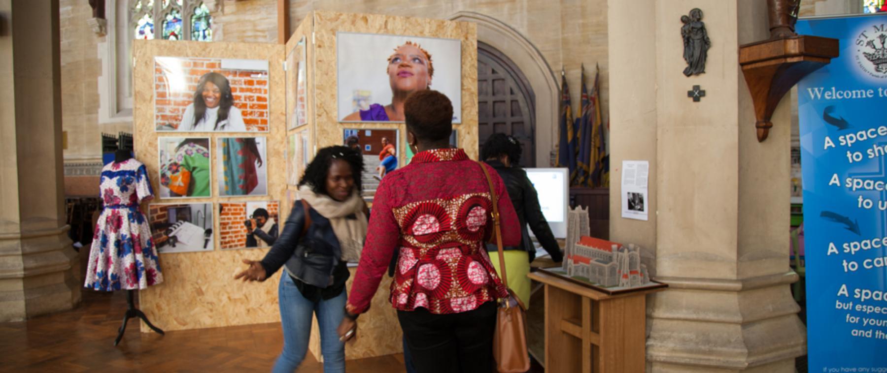 Aspex digital arts workshop participants view their works